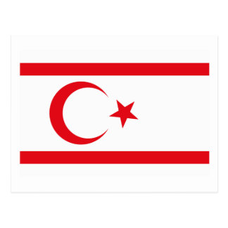 Northern Cyprus Flag Postcard