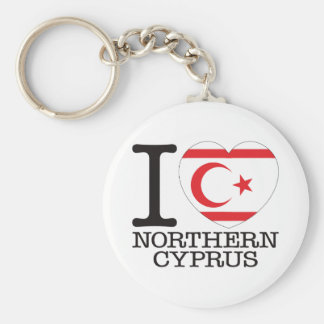 Northern Cyprus Love v2 Key Ring