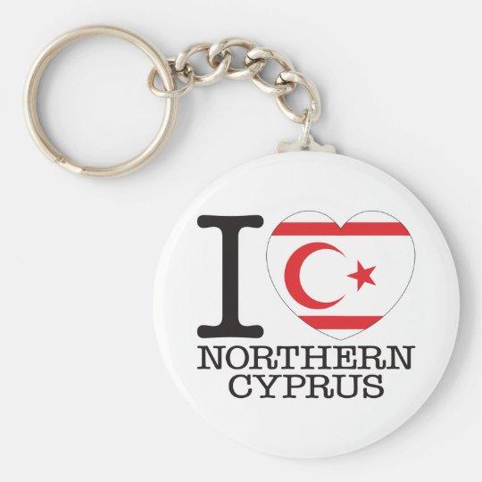 Northern Cyprus Love v2 Key Ring