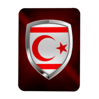 Northern Cyprus Metallic Emblem Magnet