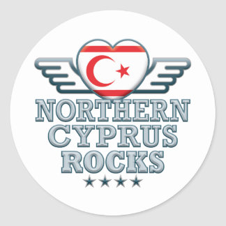 Northern Cyprus Rocks v2 Classic Round Sticker