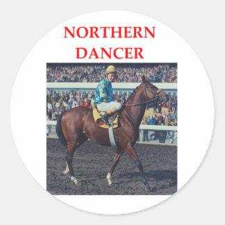 northern dancer round sticker