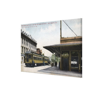 Northern Electric Railroad Station 2 Canvas Print