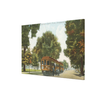 Northern Electric Railroad Station Canvas Print