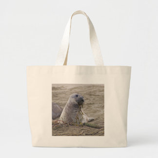 Northern Elephant Seal Baby Canvas Bags