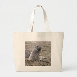 Northern Elephant Seal Baby Jumbo Tote Bag