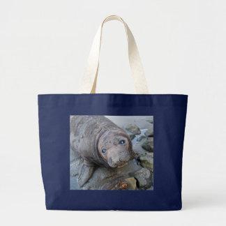 Northern Elephant Seal Pup Jumbo Tote Bag