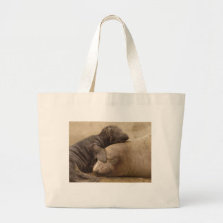 Northern Elephant Seal with her Pup Tote Bag