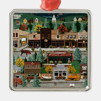 """Northern Exposure"" ~ Roslyn, Washington Christmas Ornament"
