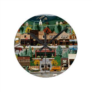 """Northern Exposure"" ~ Roslyn, Washington Round Clock"
