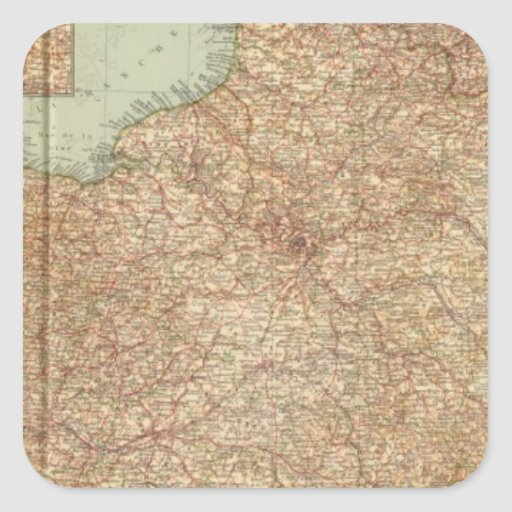 Northern France 3234 Square Stickers