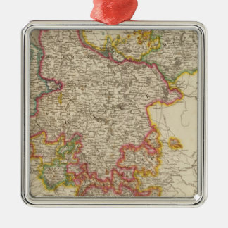 Northern Germany Silver-Colored Square Decoration
