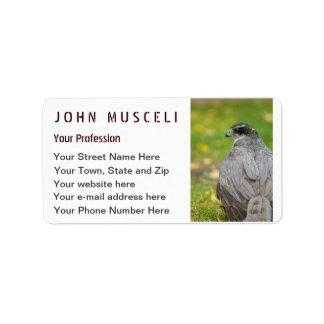 Northern Goshawk customizable business suite Address Label