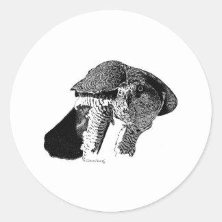 Northern Goshawk Round Sticker