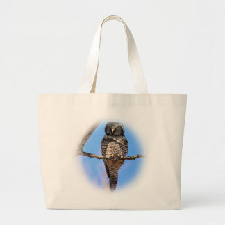Northern Hawk Owl 4A Tote Bags