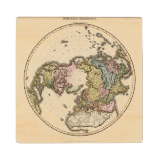 Northern Hemisphere 2 Wood Coaster