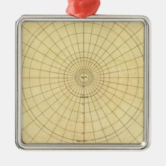Northern Hemisphere Outline Christmas Ornament
