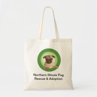 Northern Illinois Pug Rescue Tote Budget Tote Bag