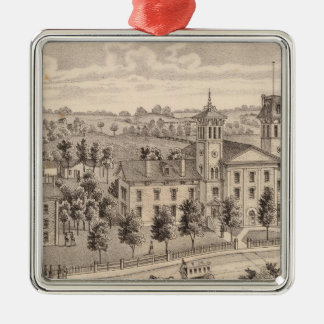 Northern Indiana Normal School buildings Christmas Ornament