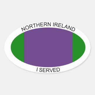 Northern Ireland car sticker i served