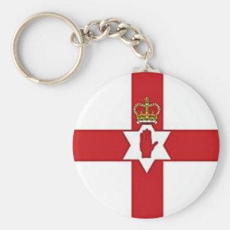 Northern Ireland flag Basic Round Button Key Ring