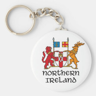 NORTHERN IRELAND - flag/coat of arms/emblem/symbol Basic Round Button Key Ring