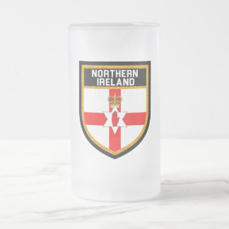 Northern Ireland Flag Frosted Glass Beer Mug