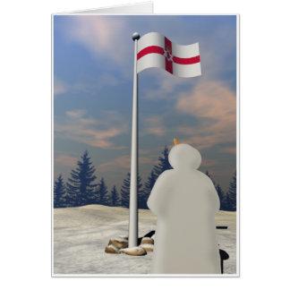 Northern Ireland Flag Greeting Card