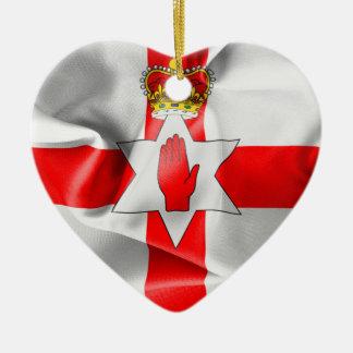 Northern Ireland Flag Heart Christmas Ornament