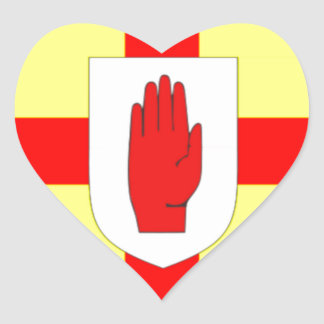 Northern Ireland Flag Heart Stickers