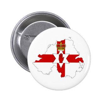 northern ireland flag map united kingdom country s 6 cm round badge