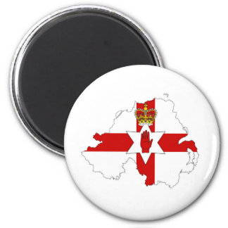 northern ireland flag map united kingdom country s 6 cm round magnet