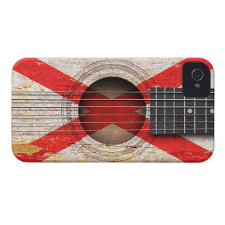 Northern Ireland Flag on Old Acoustic Guitar iPhone 4 Cases
