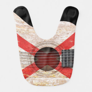 Northern Ireland Flag on Old Acoustic Guitar Bibs