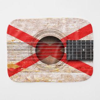 Northern Ireland Flag on Old Acoustic Guitar Burp Cloths