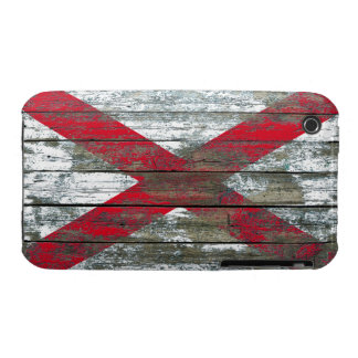 Northern Ireland Flag on Rough Wood Boards Effect iPhone 3 Case-Mate Cases