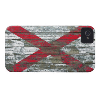 Northern Ireland Flag on Rough Wood Boards Effect Case-Mate iPhone 4 Case