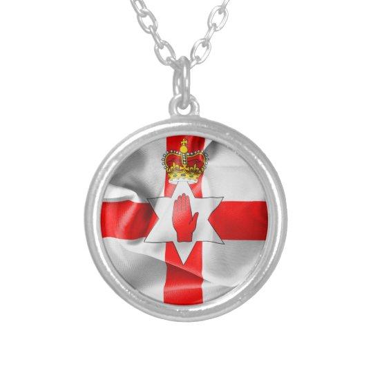 Northern Ireland Flag Round Pendant Necklace