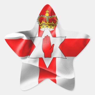 Northern Ireland Flag Star Sticker