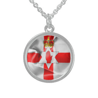 Northern Ireland Flag Sterling Silver Necklace