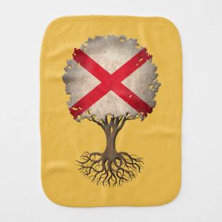Northern Ireland Flag Tree of Life Customizable Baby Burp Cloths