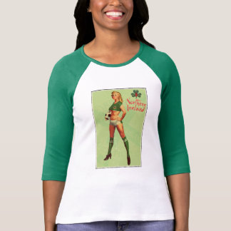Northern Ireland football retro pin-up T-Shirt