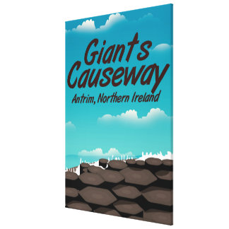 Northern Ireland Giants Causeway travel poster Canvas Print
