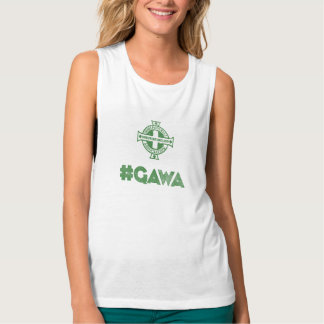 Northern Ireland Green & White Army Tank Top