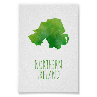 Northern Ireland Map Poster