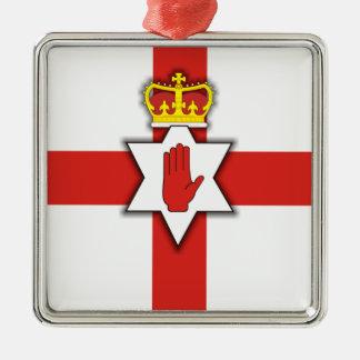 Northern Ireland Pride Silver-Colored Square Decoration