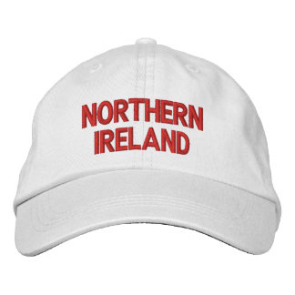 Northern Ireland Red on White Patriotic Cap Embroidered Cap