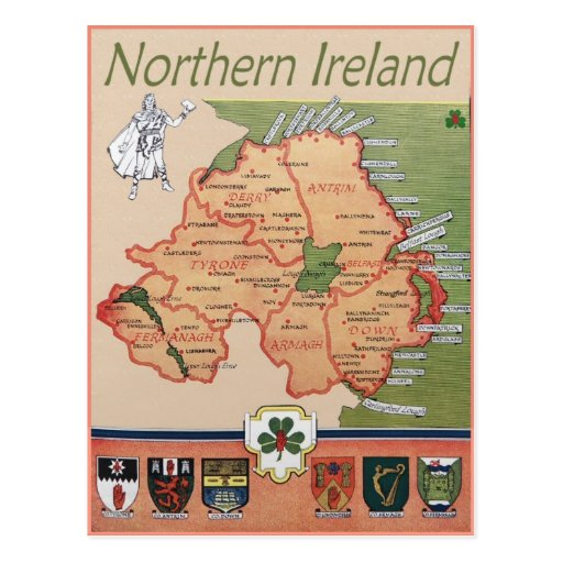 Northern Ireland retro Postcards