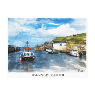 Northern Ireland Scenery Stretched Canvas Prints