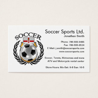 Northern Ireland Soccer 2016 Fan Gear Business Card